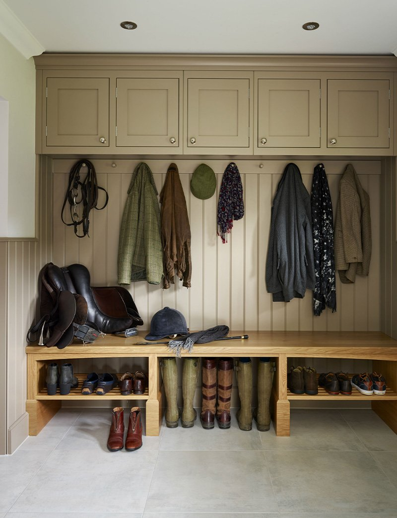 boot room with storage for wellies and coats