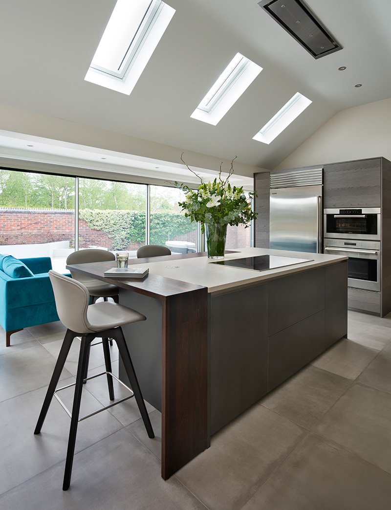 dada kitchen with island seating area