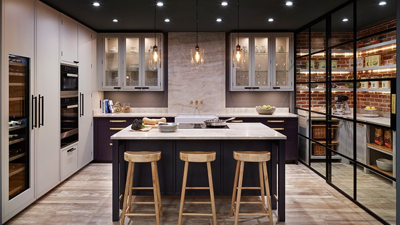 davonport kitchen with island and breakfast bar
