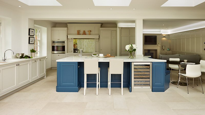 davonport kitchen with island and lots of storage