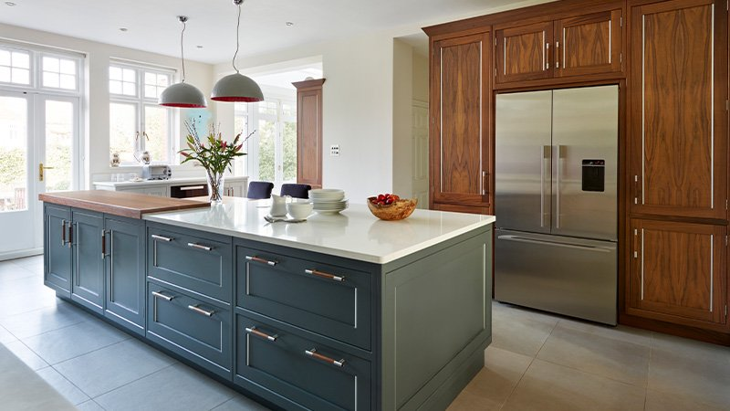 davonport kitchen with island and natural light