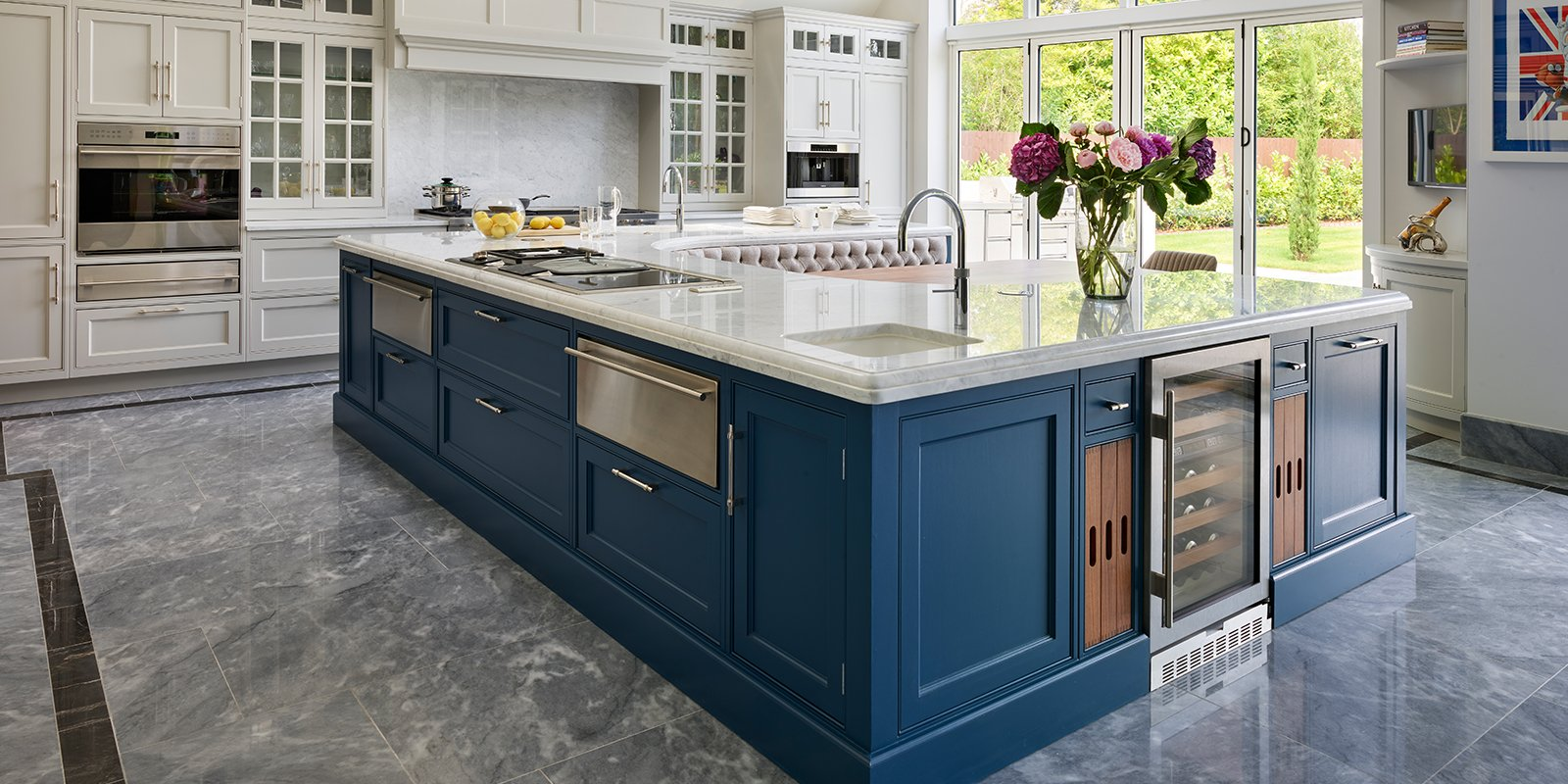 davonport kitchen with large island