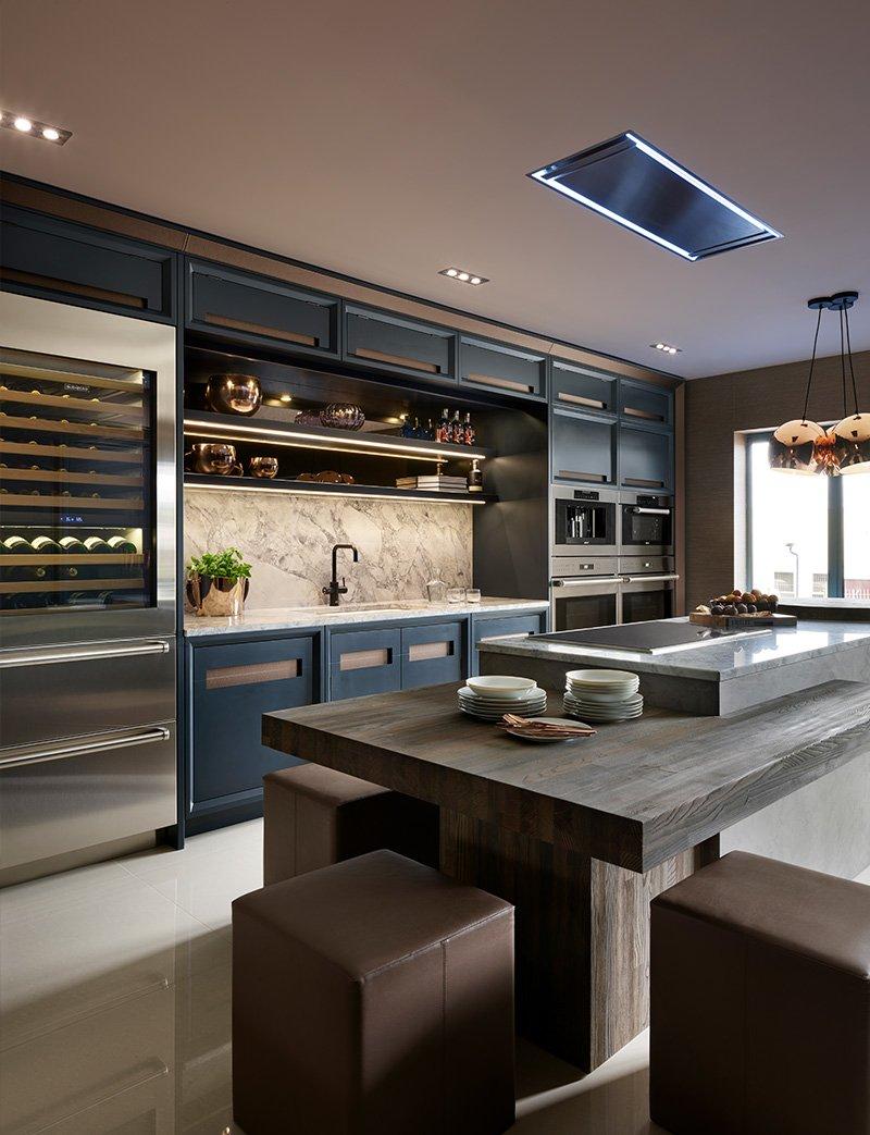 davonport kitchen with wine cooler