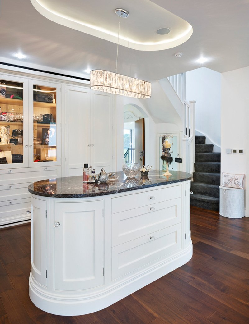 jane cheel furniture with island and storage cupboards
