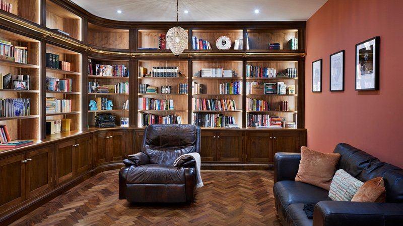 jane cheel furniture with large storage for books