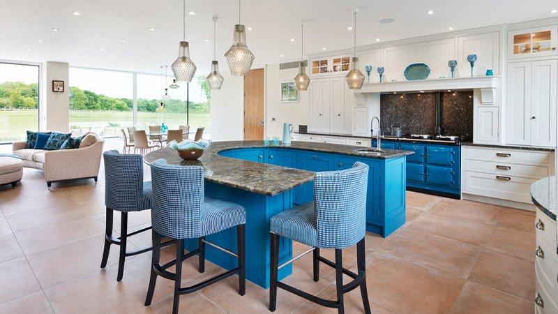 jane cheel kitchen with breakfast seating area