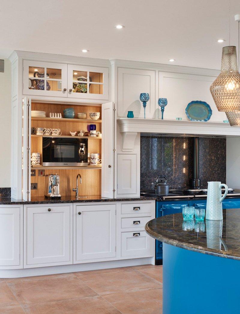 jane cheel kitchen with storage cupboard