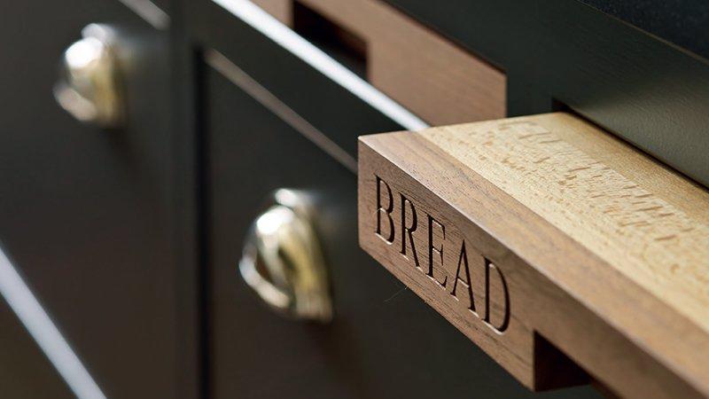 kitchen detail for bread board