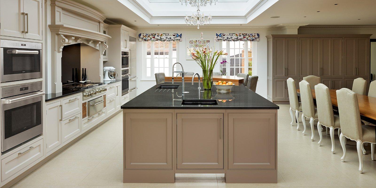 kitchen island with granite worktop