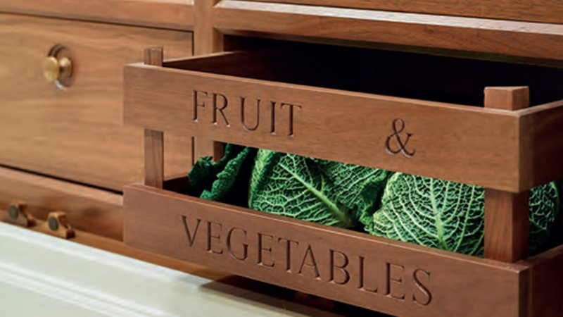 kitchen storage for fruit and vegetables