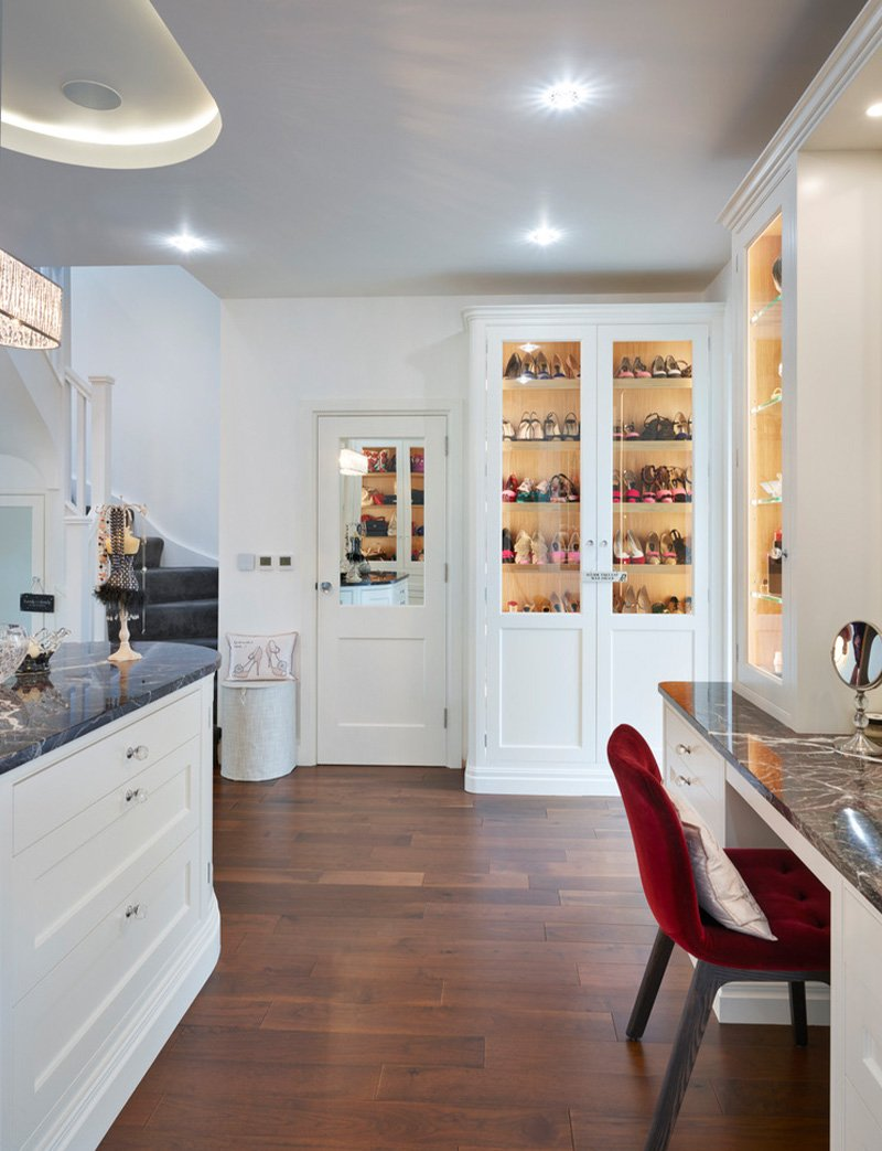 kitchen with storage for shoes