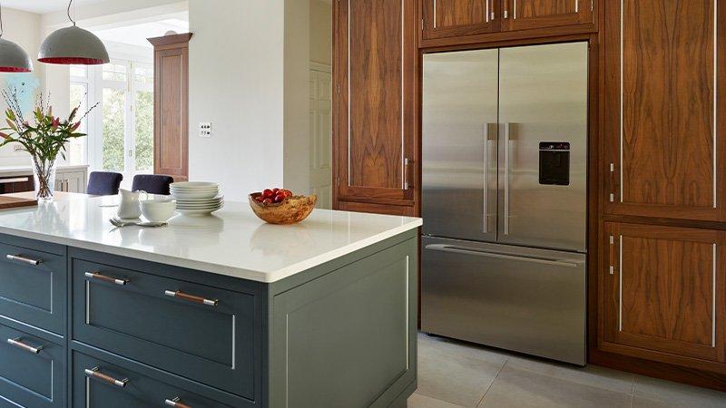 large stainless steel fridge