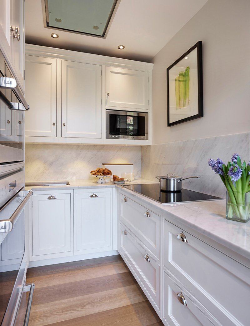 new kitchen build with utility cupboard