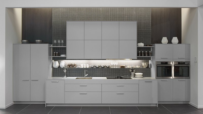 pronorm kitchen with grey finish