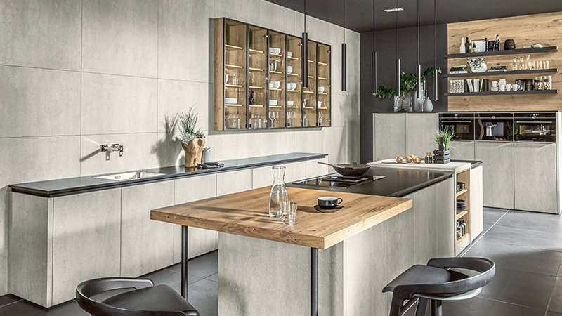 pronorm kitchen with wood and island