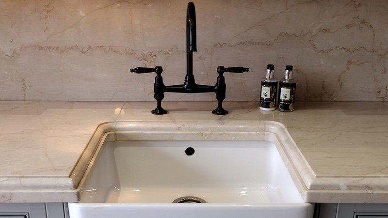 shaws ceramic sink with 1810 tap