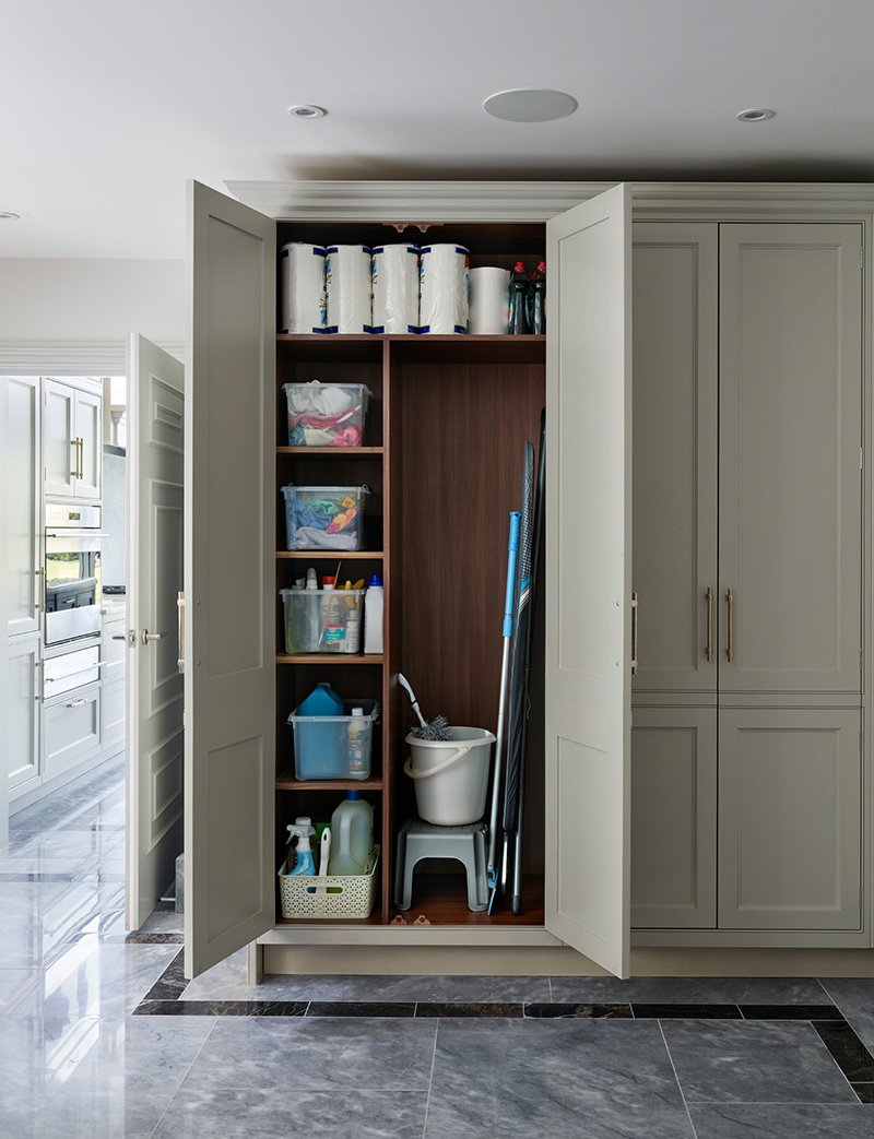 storage cupboard for cleaning products