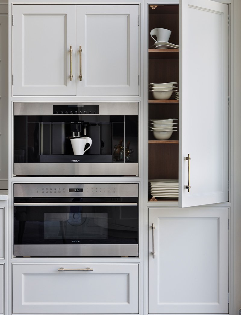 utility cupboards with stainless steel appliances