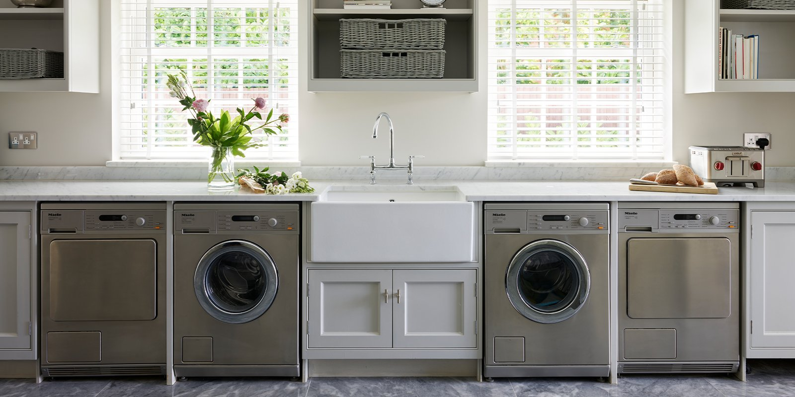utility room with many appliances