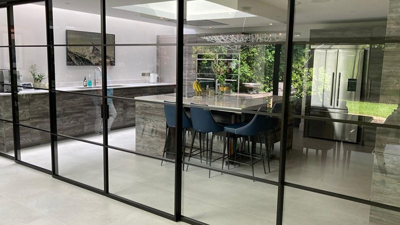kitchen with light and bright areas