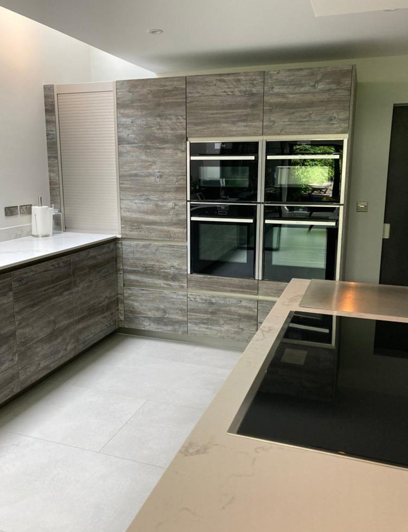 rational kitchen with built in appliances